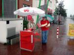 Infostand Im Regen