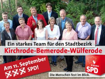 Gruppenphoto der Bezirksratskandidaten